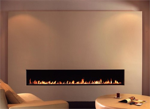 现代燃气真火壁炉_美国室内设计中文网