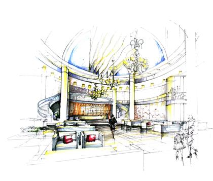 酒店大堂_美国室内设计中文网