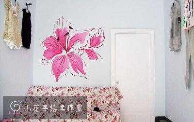 临沂小花手绘 墙绘作品1_美国室内设计中文网