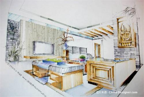 室内手绘效果图小景