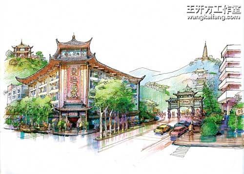 2005-2006  圆通寺佛文化景区    策划与规划设计,浙江省杭州市桐庐县