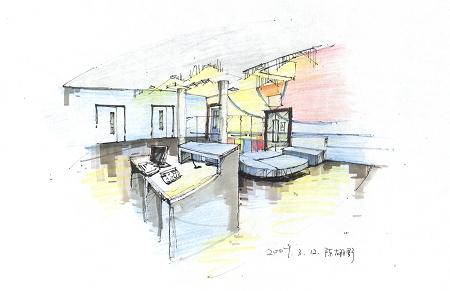 手绘效果图2_美国室内设计中文网