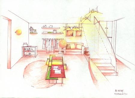 手绘效果图10_美国室内设计中文网