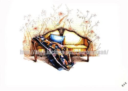 家具手绘表现一 单体家具手绘效果图