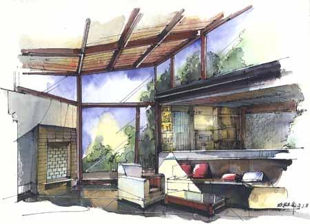 室內生態設計方向手繪作品2
