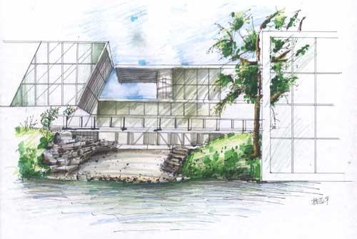 湖南农业大学室内生态设计方向手绘作品--杨蕊