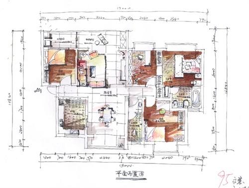 室内生态设计方向手绘作品