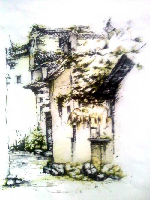 风景手绘_美国室内设计中文网