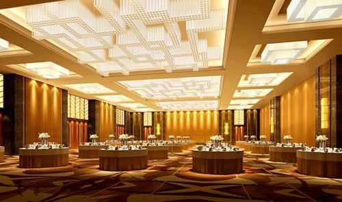 餐饮,宴会空间:  1),位于南楼,一层的西餐咖啡厅,通过对石材的切割图片