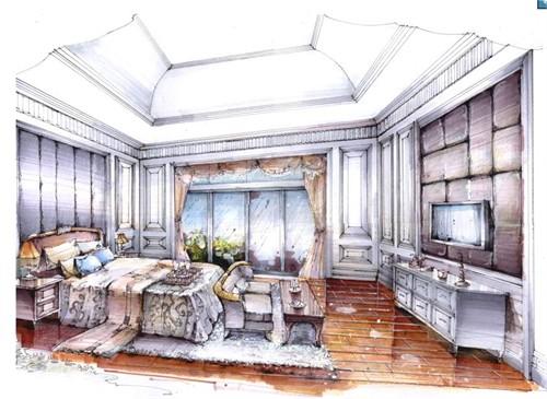 别墅室内设计手绘表现