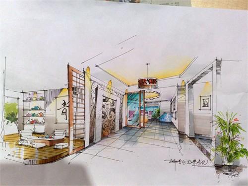 居住空间设计手绘