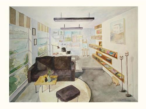办公空间设计(手绘)_美国室内设计中文网