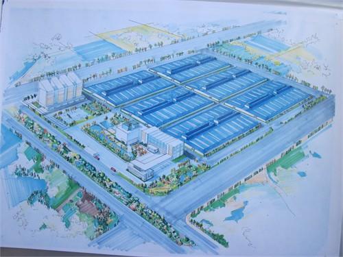 工业场地手绘平面图