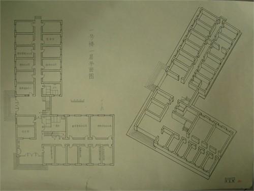 手绘教学楼规划图