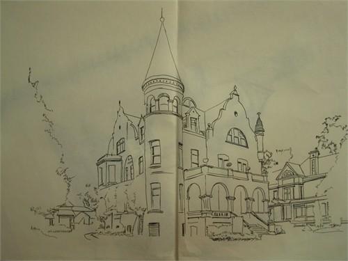美国著名建筑手绘