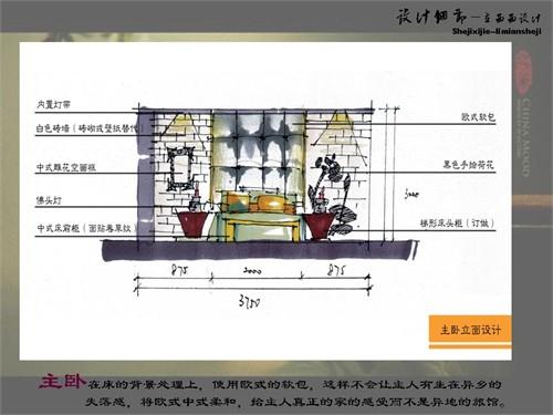 中式客栈手绘图