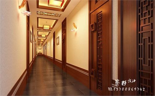 本案中采用了现代中式风格,在门头的设计中借鉴了中国古代的青瓦,青砖图片