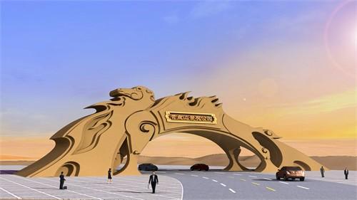 中国内蒙古阿拉善盟左旗营盘山景观公园大门