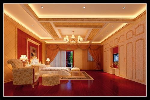 别墅客厅墙布欧式