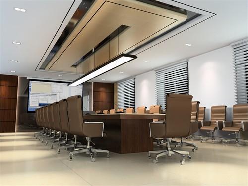 现代大厅效果图_某现代化办公楼设计_美国室内设计中文网