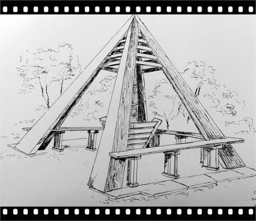 钢笔线描实物高清图片
