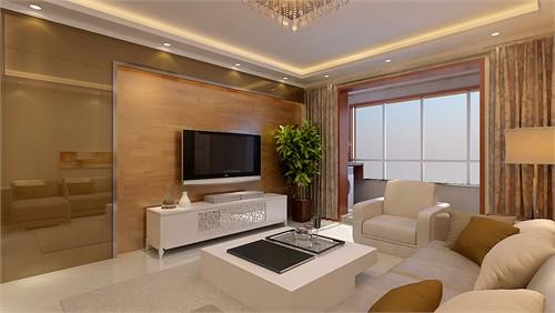 餐厅背景墙与电视背景墙装饰都采用了木地板与