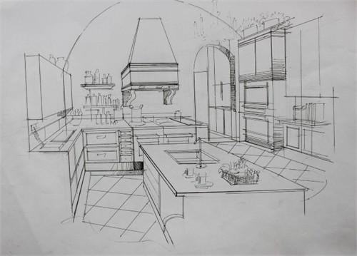 手绘效果图 美国 室内设计 中文网