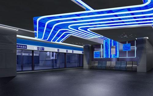 北京地铁-丰台科技园站设计方案_美国室内设计中文网
