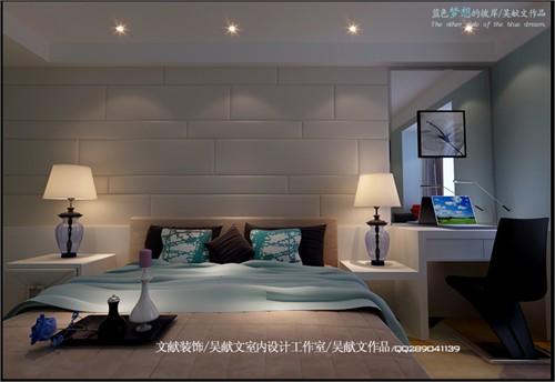 北城国际-三居室-138平米-卧室装修效果图; 三居室-138㎡-装修案例