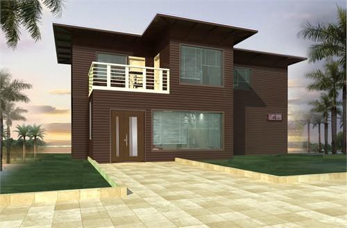 此设计用集装箱搭建成家用别墅