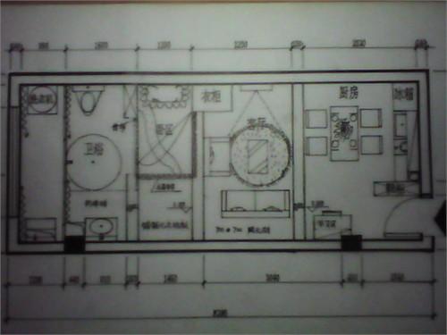60平单身公寓设计图展示