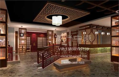 茶餐厅茶楼装修设计首选风尚中原设计机构——茶餐厅装修设计包间三