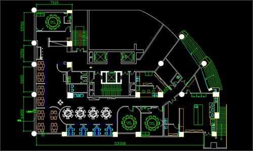 鲜得道房屋海鲜v房屋餐厅设计图12米x12米图片