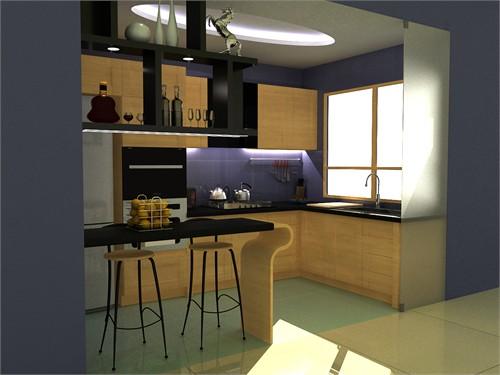 带酒柜的吧台效果图; 03 第一届时尚生活,健康厨房——100年franke