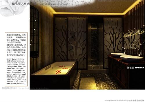 构思了了一个中式特色的客房应在整个房间的主题与气氛.图片
