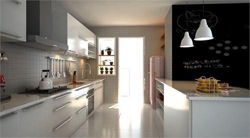 厨房手绘效果图简单