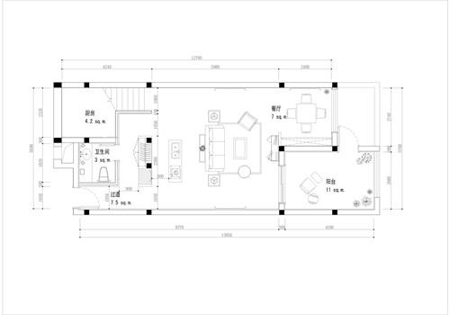 平面方案3; 厨房结合楼梯间设计,运用franke水槽; 楼梯间设计平面图图片