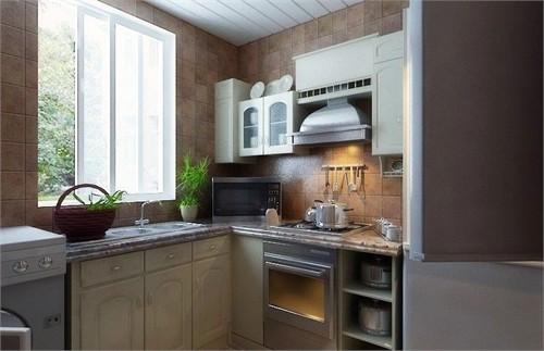 厨房地面湿度高且易被油腻污化,因此我选择材料主要考虑耐湿,耐磨图片
