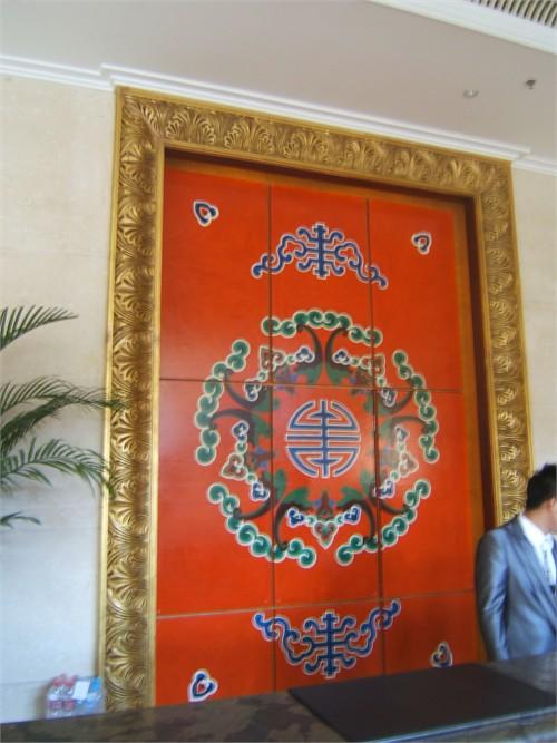 饭店包间手绘墙画