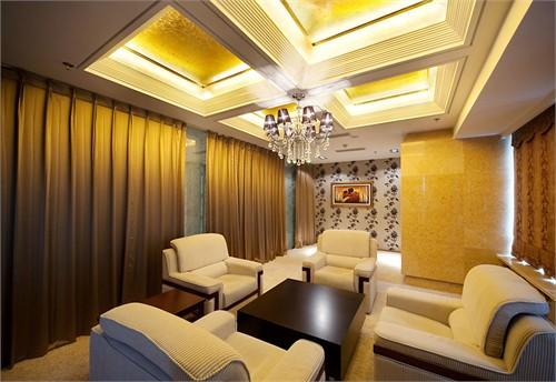 东方金石接待中心_美国室内设计中文网; 端景墙效果图;