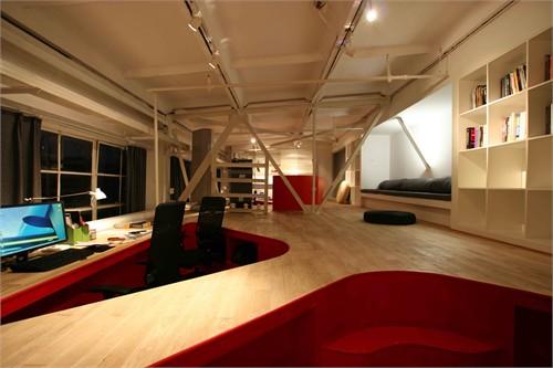 钢结构复古办公室装修设计