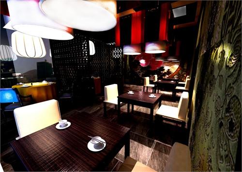 中式餐饮空间_美国室内设计中文网