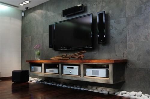 客厅家庭影院_美国室内设计中文网