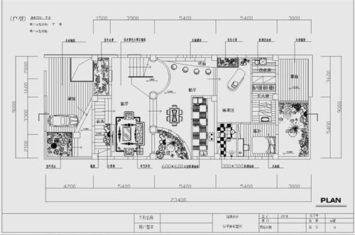 别墅线条矢量图
