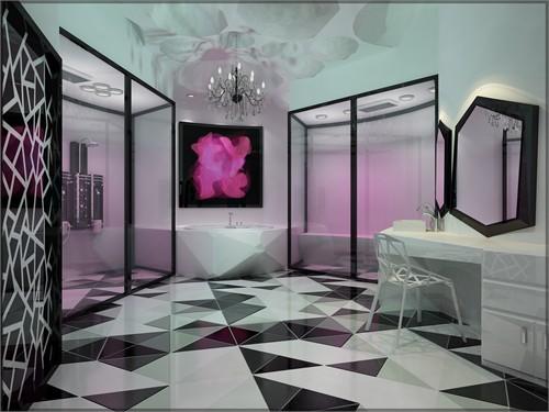 欧式洗浴城装饰画贴图