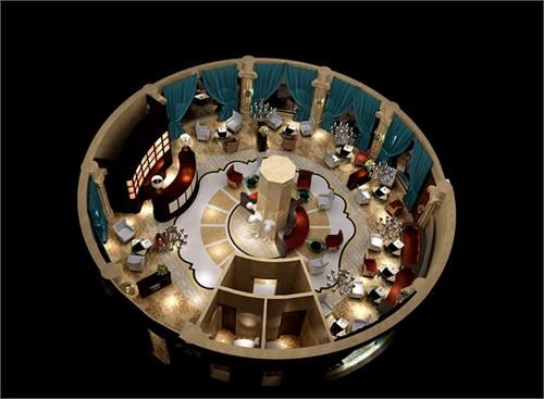 玻璃咖啡桌面俯视图
