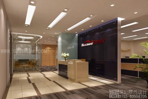 深圳写字楼设计-深圳旻君电子公司写字楼装修设计