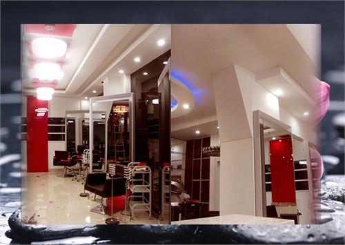 室内设计美发店镜台效果图_发型设计