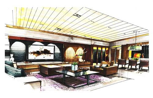 手绘设计效果图_美国室内设计中文网