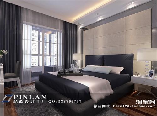 主卧床头背景墙设计,银灰色主卧设计